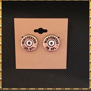 Winchester 38 Special Earrings in Gold